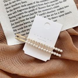 Set 2 agrafe par cu perle albe, Small Pearl, Vintage Edition, Conceptool