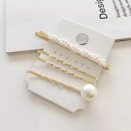 Set 4 agrafe par cu perle albe, Clasic Bride, Chic Edition, Conceptool