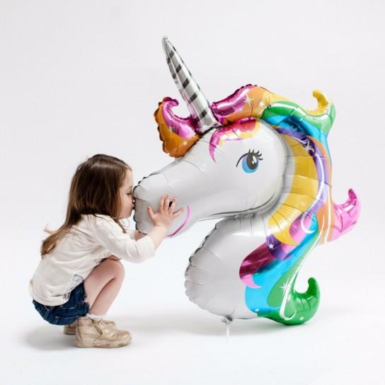 Balon Folie Figurina Unicorn Mare, 90 x 110 cm
