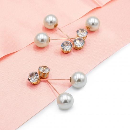 Brosa Pin Cristal si Perla