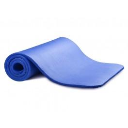 Saltea anti-alunecare Yoga, Fitness, Pilates Profesionala, Albastra + Husa neagra Depozitare si Transport