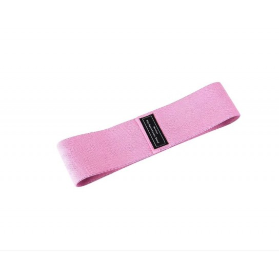 Banda elastica din bumbac si latex, hip band, roz, Medium Weight pentru exercitii Fitness, Yoga, Crosfit, Pilates