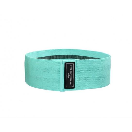 Banda elastica din bumbac si latex, hip band, verde, Light Weight pentru exercitii Fitness, Yoga, Crosfit, Pilates