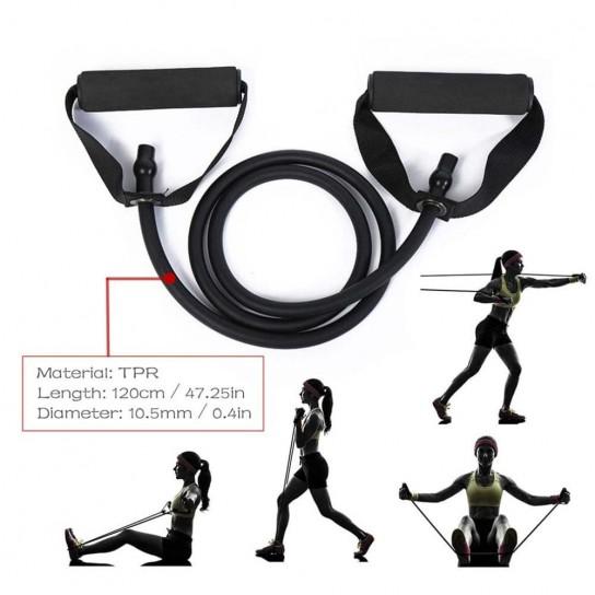 Extensor cu manere Fitness Conceptool, mov, SOFT 135cm