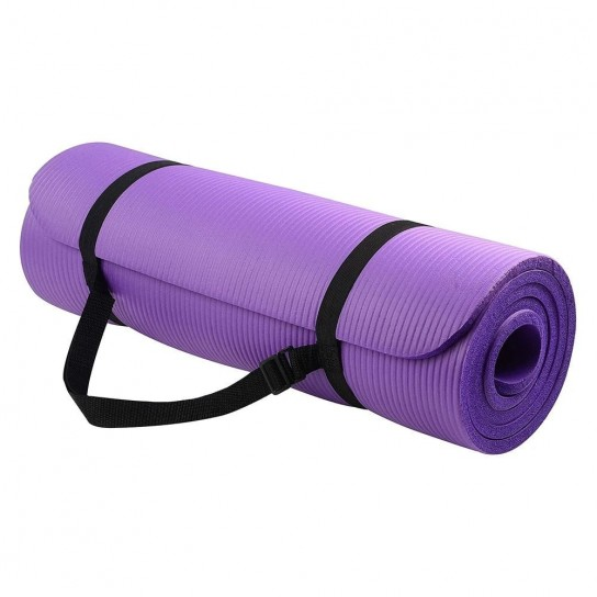 Saltea anti-alunecare Yoga, Fitness, Pilates Profesionala, Mov + Husa neagra Depozitare si Transport