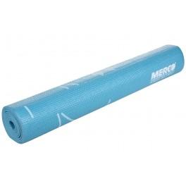 Saltea anti-alunecare Yoga/ Fitness/Pilates Profesionala, bleu cu imprimeu + Husa neagra Depozitare si Transport