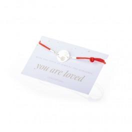 Bratara charm banut cu papadie - Secret WISH - argint 925 snur rosu