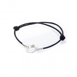 Bratara charm banut cu papadie - Secret WISH - argint 925 snur negru