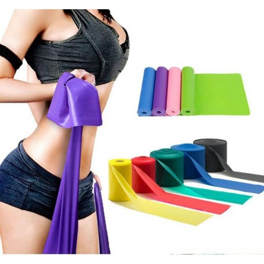 Banda Elastica, Fitness si Yoga 120 cm Verde - MERCO MEDIUM