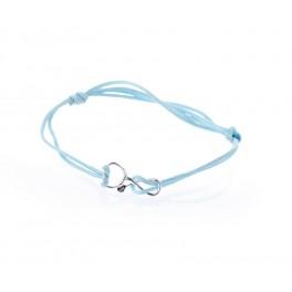 Bratara stetoscop - Best DOCTOR - argint 925 snur bleu
