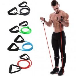 Extensor cu manere Fitness Conceptool, negru, 135cm