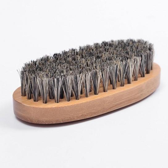Perie barba din Par Natural de mistret + Pieptan contur barba din Otel Inoxidabil + Ghid Aranjarea Barbii Cadou