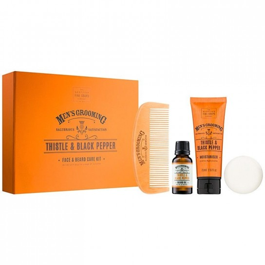 Set cadou de ingrijire barba Men's Grooming Scottish FIne Soaps